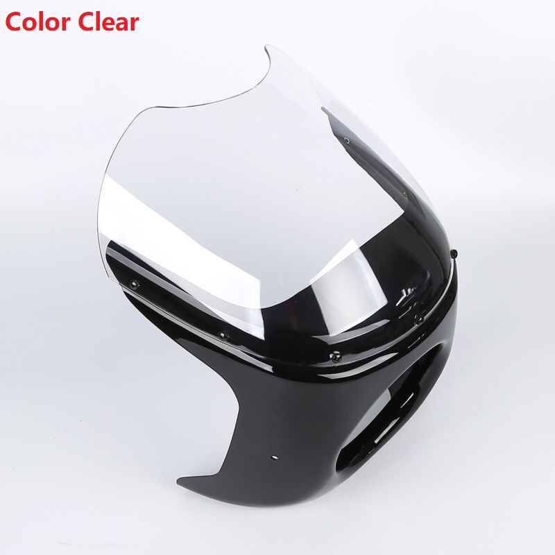 2 Style Universal Motorcycle 7 Cafe Racer Headlight Fairing & Windshield Screen Cover For Harley Honda Suzuki Motorcycle