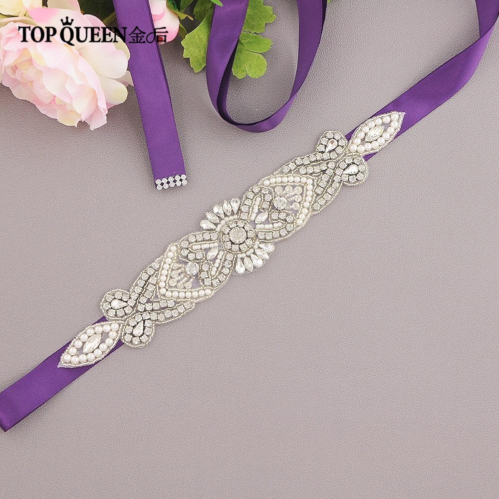 TOPQUEEN S208 Wedding Sash Crystal Rhinestone Bridal Belts For Women Night Dress Belts Wedding Belt Wedding Accessories Marriage