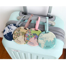 Vogvigo Map Luggage Tag Women Travel Accessories Silica Gel Suitcase ID Address Holder Baggage Boarding Tag Portable Label Bag