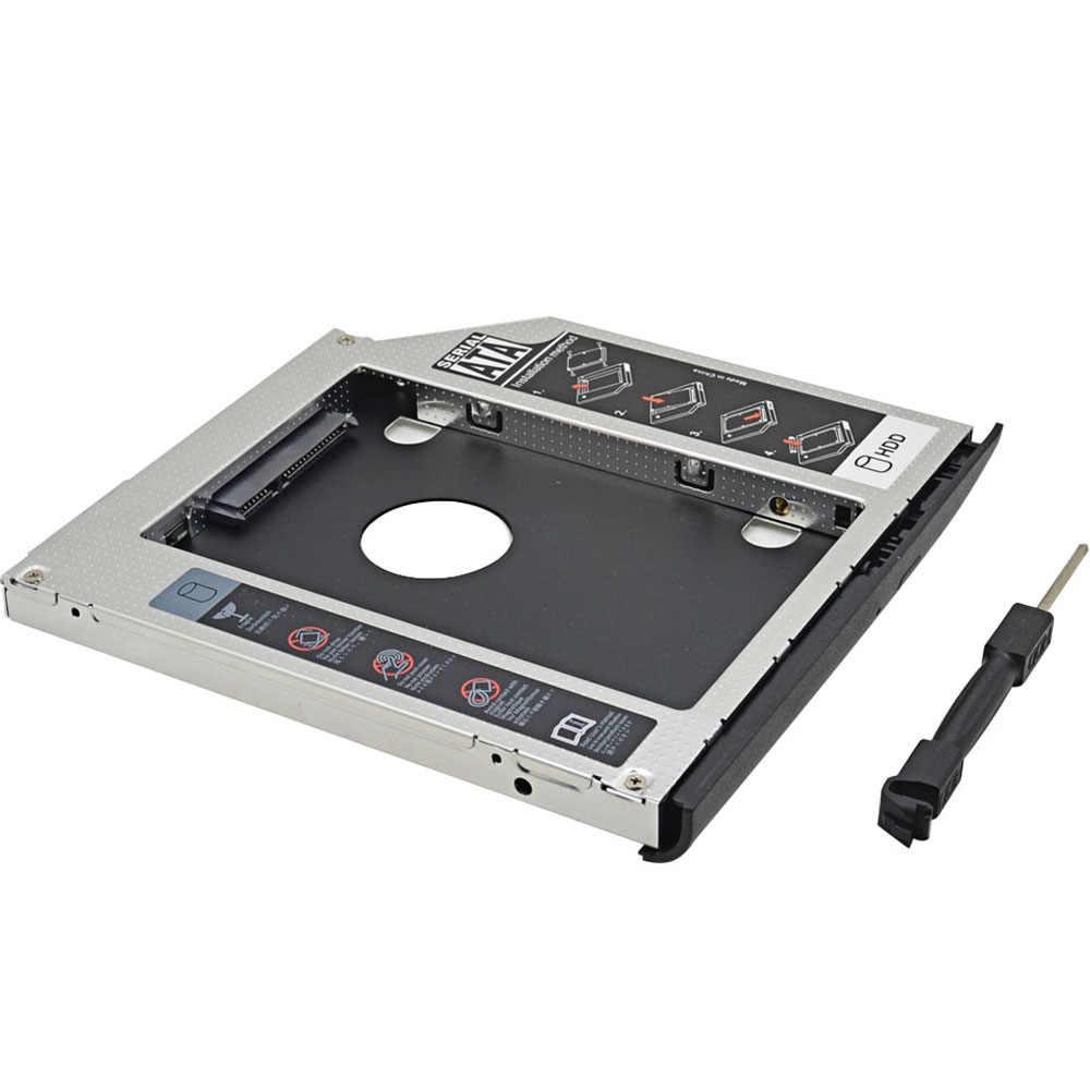 Алюминиевый второй HDD Caddy 9,5 мм SATA III светодиодный индикатор SSD чехол Корпус жесткого диска для hp EliteBook 2530p 2540p Оптический отсек