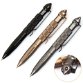 Alta Qualidade de defesa pessoal Ao Ar Livre EDC Tactical Pen Self Defense Pen Ferramenta Aviação Alumínio Anti-skid Portátil Multiuso