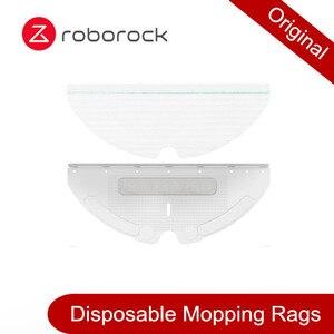 Image 1 - Originele Roborock Deel Van Wegwerp Rag, Afneembare Borstel Voor Roborock S50 S55 T60 S6 E20 E35 S5 Max