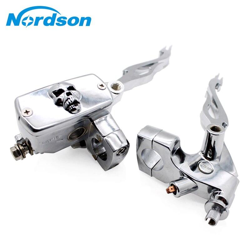 Nordson 1 25 мм Универсальный мотоцикл главный цилиндр тормозной муфты резервуар рычаги Набор для Honda Suzuki Kawasaki Yamaha