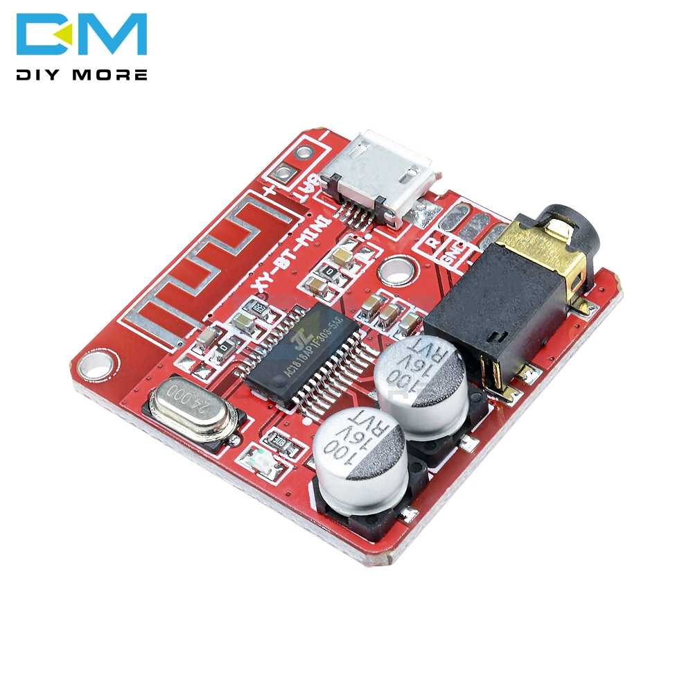 Mini MP3 Bluetooth 4.1 Lossless Decoder Stereo Output Papan Mobil Speaker Amplifier Modul Papan Sirkuit Modul 3.7V 5V micro USB