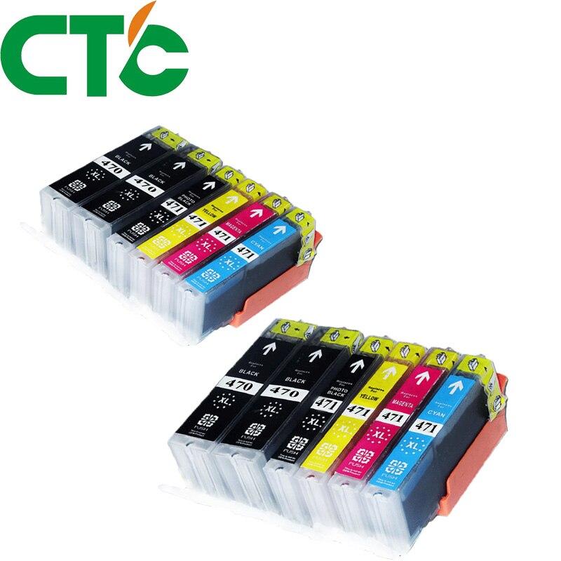12 Pack PGI 470 CLI471XL Ink Cartridge Compatible for Canon Pixma MG5740 MG6840 MG7740 TS5040 TS6040 TS 5040 TS 6040