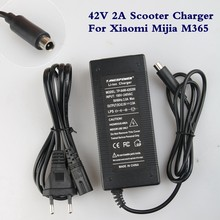 42V 2A Electric Skatebaord Adapter Scooter Charger For Xiaomi Mijia M365 Electric Scooter Bike Accessories EU/US/AU/UK Plug(China)