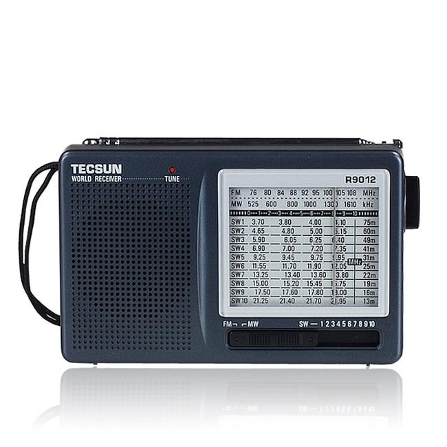 Portable Radio TECSUN R-9012 R9012 12 Band FM/AM/SW Radio Multiband Radio Receiver Portable High Sensitivity TECSUN Radio 5pcs pocket radio 9k portable dsp fm mw sw receiver emergency radio digital alarm clock automatic search radio station y4408