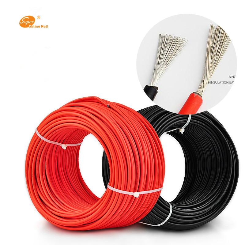 Rollo cable de 5 metros rojo o negro