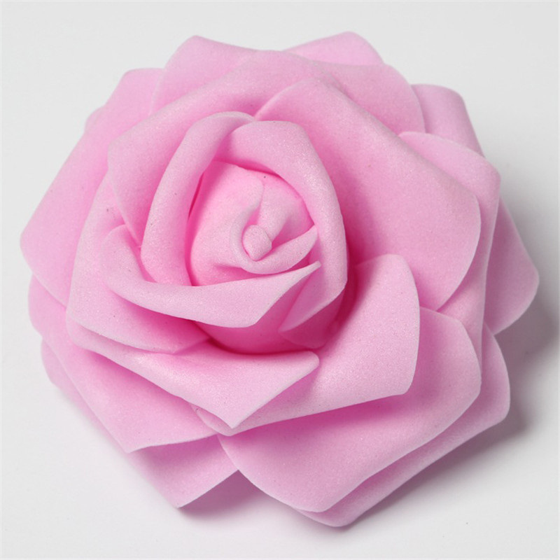 30Pcs/lot 8cm PE Foam Rose Artificial Flower Heads For Decorative Wreaths Wedding Event Party Decoration Home Garden Supplies