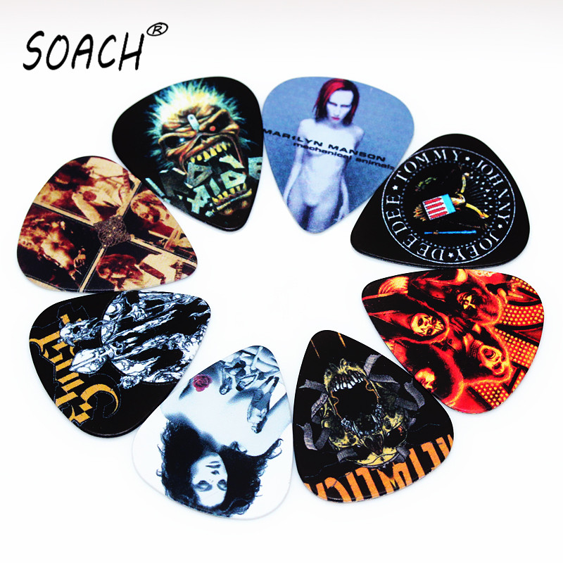 SOACH 10pcs Newest  Custom-made Band Guitar Picks Thickness 0.46mm  Guitar Accessories