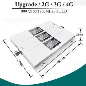 Image 3 - Lintratek ALC GSM 900 3G 2100 LTE 1800 cep sinyal güçlendirici Tri bant tekrarlayıcı lcd ekran cep telefonu 4G amplifikatör S8
