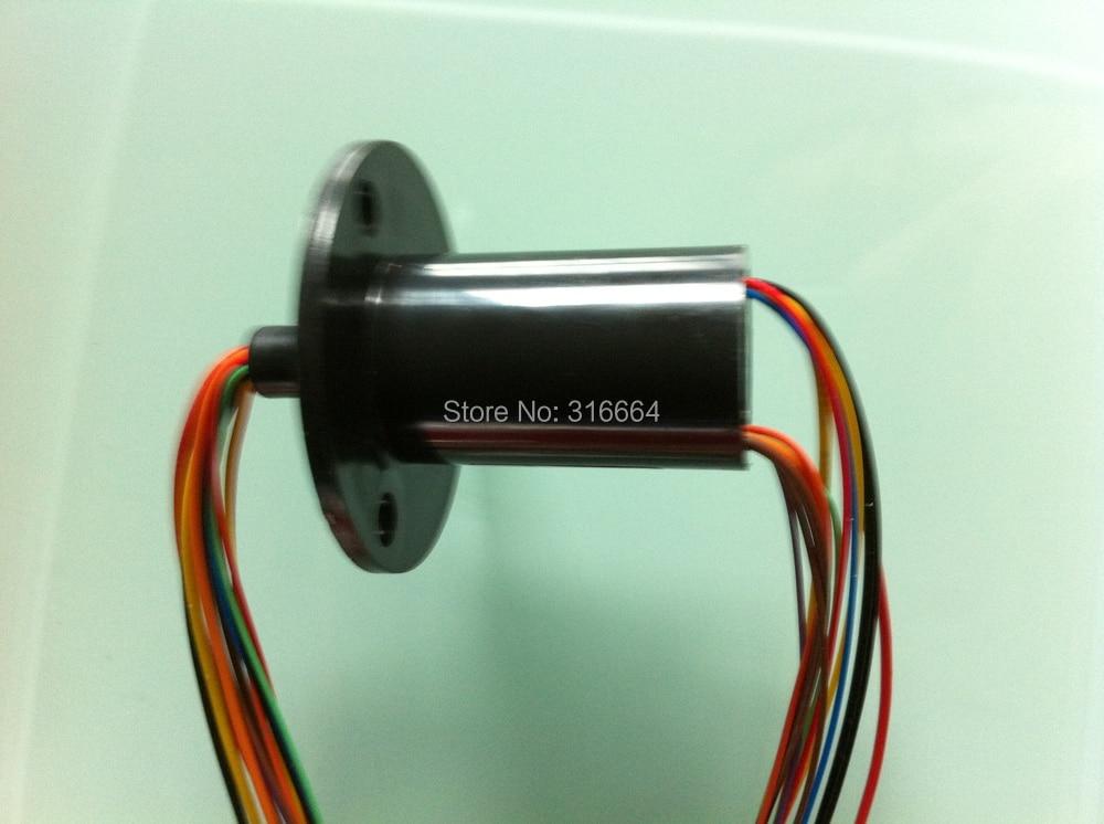 Kapsel schleifring stecker mit flansch OD22MM. 8 P signal 5 P power ...