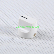 10pcs Colorful Rotary Control Vintage Plastic White Knob 16x15mm for Guitar 6.35mm Shaft Amp Parts