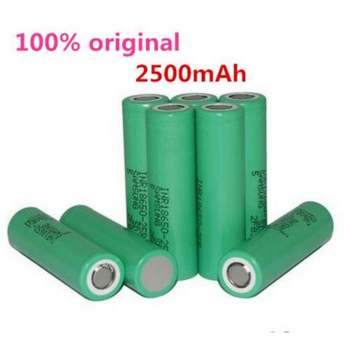 18650 Battery For Samsung Original INR18650 25R 20A Discharge Lithium Batteries, 2500mAh Electronic Cigarette Power Battery