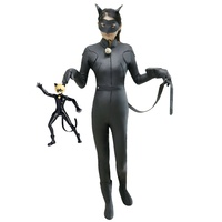 Anime Cosplay Costume Kids Miraculous Ladybug Cat Noir Black Jumpsuits Halloween Costumes For Girl Carnival Masquerade