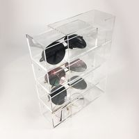 Acrylic Eye Glass Storage Organizer Bin Holder for Sunglasses Reading Glasses Eye Glass Cases Accessories 4 Drawers
