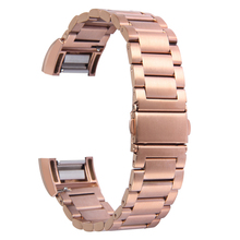 TOROTOP 2017 NEW WATCH BANDS For FITBIT CHARGE 2 BAND Solid Stainless Steel Adjustable Rose Gold Metal Band FITBIT CHARGE 2