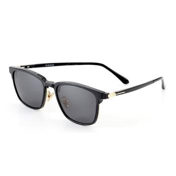 16f31a3645 Marco medio cuadrada elegante no receta anteojos gafas lente claro gafas  Clip polarizado gafas de sol de las mujeres de los hombres