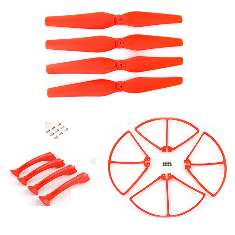 Rc Drone Accessory Propeller Landing Gear Propellers Protection For Syma X8c X8w X8g X8hc X8hg Quadcopter Spare Parts Blades for syma x8c x8w rc quadcopter spare part blade propeller protection frame protector bumper 4pcs free shipping