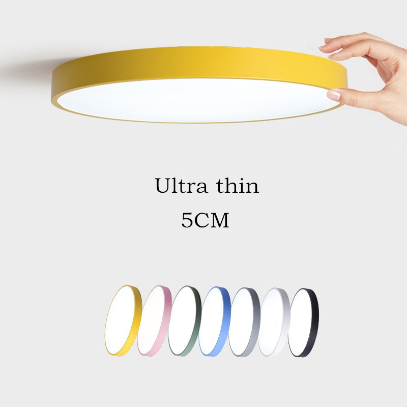 Ceiling Lights & Fans Remote Contro Dedicated Multicolor Ultra-thin Led Round Ceiling Light Modern Panel Lamp Lighting Fixture Living Room Bedroom Kitchen