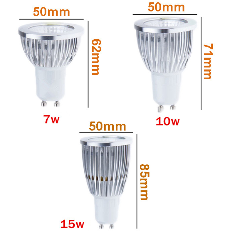 produs led lamp gu10 led spotlight dimmable cob led bulb 7w 10w 15w warm white white 110v 220v. Black Bedroom Furniture Sets. Home Design Ideas