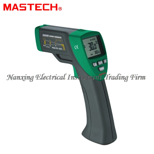FAST ARRIVAL MASTECH MS6530A D:S=12:1 Non-contact Infrared Thermometer IR Temperature Gun with Laser Pointer Tester -20C~850C new arrival non contact ir laser infrared thermometer gun tester