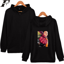 LUCKYFRIDAYF ONE PUNCH-MAN Hoodies Sweatshirt Zipper Cartoon Hoodies Men Plus Size Black Fashion Long Sleeve Autumn Jackets Men