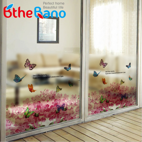 Hot New Decorative Film Waterproof Window Privacy Stained Glass Sticker  Office Door Home Bathroom Window Glass