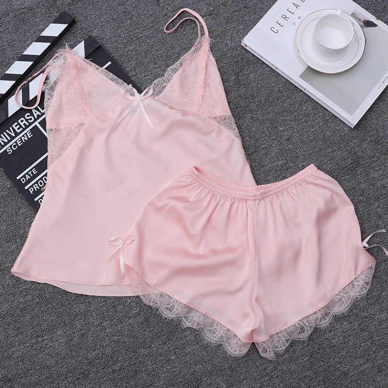 mirada detallada 18b70 fdd76 Pijamas de encaje para mujer conjunto de pijamas para mujer ropa de casa  ropa interior para mujer Pijamas bonitos para mujer ropa de dormir