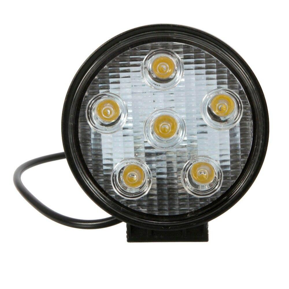 ФОТО 18W 6LED Bulbs 6500K White Light Round Automotive Engineering Spotlight Lamp AESL01