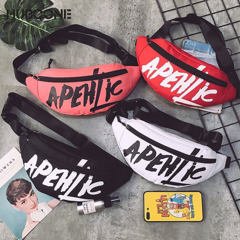 HUBOONE Fashion Graffiti Fanny Pack Waist Bag Women Belt Bag Pouch Banana Waist Pack Women Sport Chest Bag Handbag Travel BumBag
