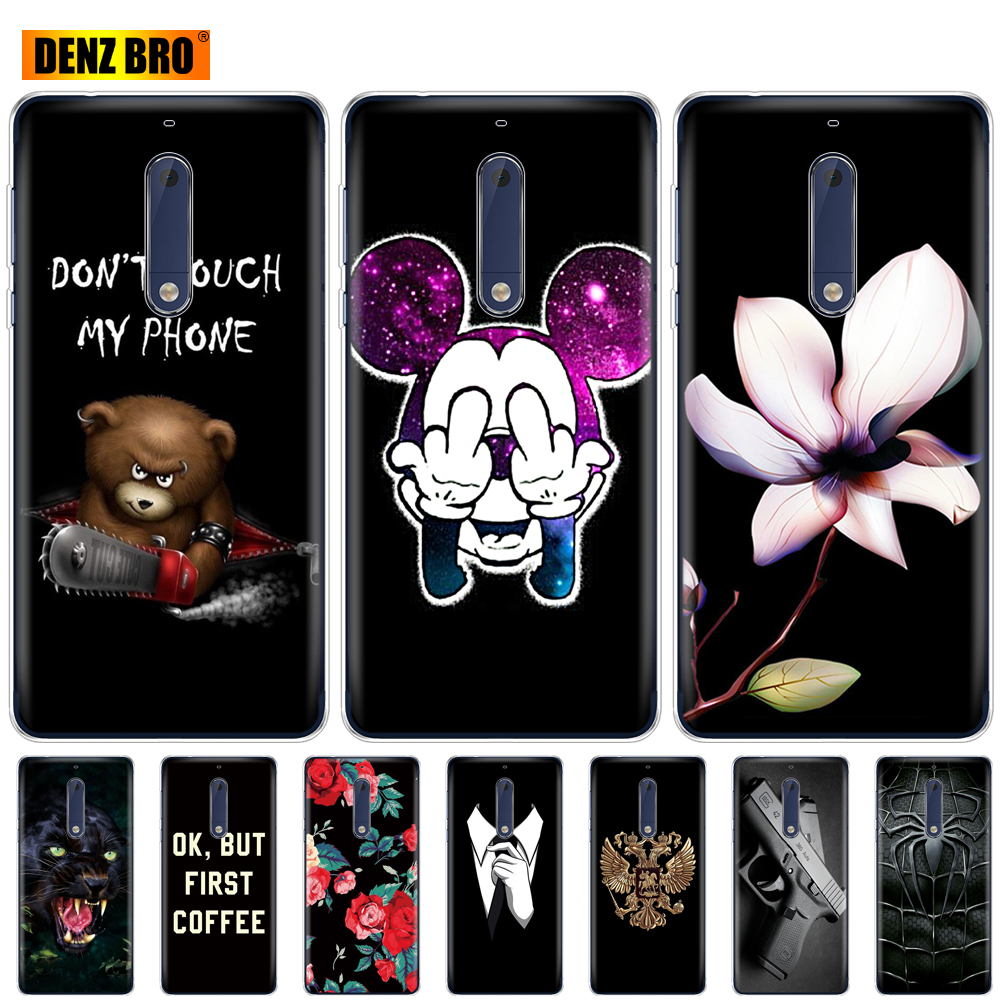 For <font><b>Nokia</b></font> 1 <font><b>2</b></font> <font><b>2</b></font>.1 3 3.1 5 5.1 plus 2018 case soft tpu silicone <font><b>back</b></font> <font><b>cover</b></font> phone case 360 full shockproof Coque bumper housing image