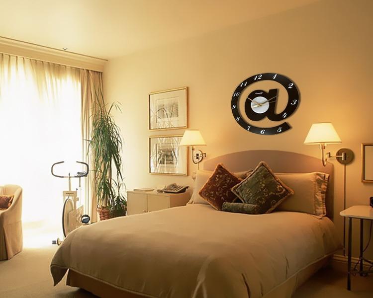 Large Round Wall Clocks Creative 3d Plastic Mirror Decorative Wall ...