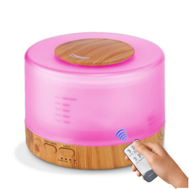 500ml Air Humidifier Remote Control Aroma Essential Oil Diffuser Cool Mist 7 Color LED Night Light Air Purifier For Home Office in Humidifiers from Home Appliances