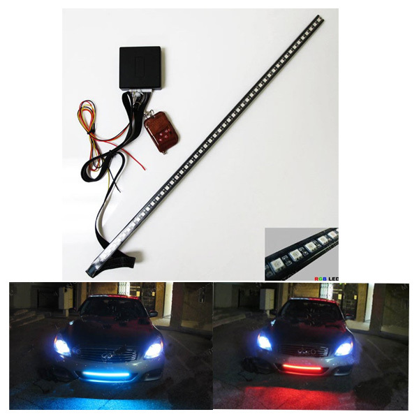 RGB 7-Color 5050 LED Scanner Strip Lighting Kit with Wireless Remote Control ( LED Knight Rider Light)