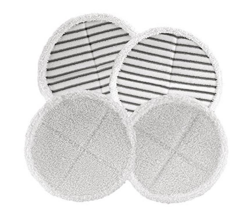 4pcs (2+2) Spinwave Mop Pad Kit for Bissell 2124 2039A Washable (wet & damp & dry) sweeping Pad mopping pads cloth replacement beauty image воск для тела оливковый 110мл