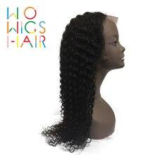 WoWigs волос полный кружево Искусственные парики вьющиеся волосы remy натуральный цвет человеческие волосы