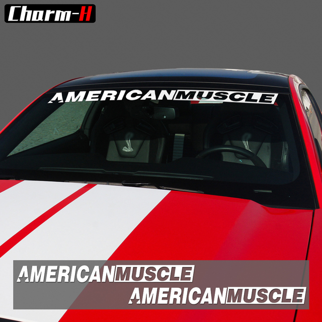 2pieces americanmuscle bold text gt front rear window windshield logo banner vinyl decal stickers for