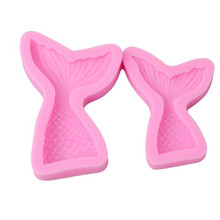 Dropshipping Silicone Fish Tail Fondant Mold Cake Sugar Mould Sugarcra