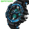 Sanda marca men sports relógios moda casual relógio relógio digital de choque relogio masculino militar à prova d' água wristwatche