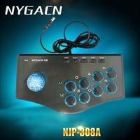 Nygacn Marca USB Wired Controller di Gioco Arcade Fighting Stick Joystick per PS3 Android Computer PC Gamepad