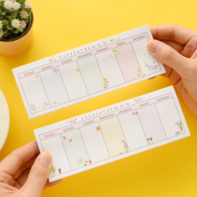 Kawaii Cute Weekly Plan Scrapbooking Stickers