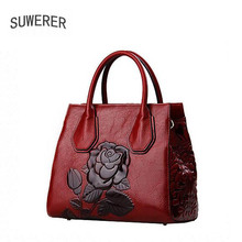 SUWERER2017 new high-quality vogue luxurious model purse real leather-based shoulder bag counter real, feminine well-known manufacturers