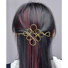 цены Fashion Hair Accessories Classic Heart Hollw Flower Chinese knot Hair Sticks Clips For Women Hair Jewelry varas de cabelo