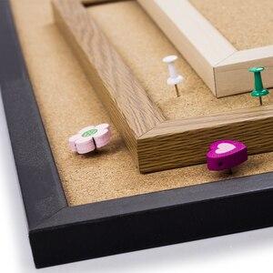 Image 5 - A3 mantar pano renkli MDF ahşap çerçeve fotoğrafları bülten tahtası mesaj hatırlatıcı panosu 30*40cm mantar Pin panoları ev aksesuarları ile