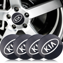 4Pcs Car 56mm sticker Wheel Center Hub Caps Decals For KIA Cerato Sportage R K2 K3 K5 Sorento Rio Soul accessories