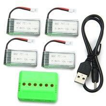 Mis à jour Accessoire Ensemble Pour Moule Roi 33041 33041A 4X3.7 V 380 mAh 25C Batterie/X6 Chargeur RC Drone De Rechange Pièces Accessoires