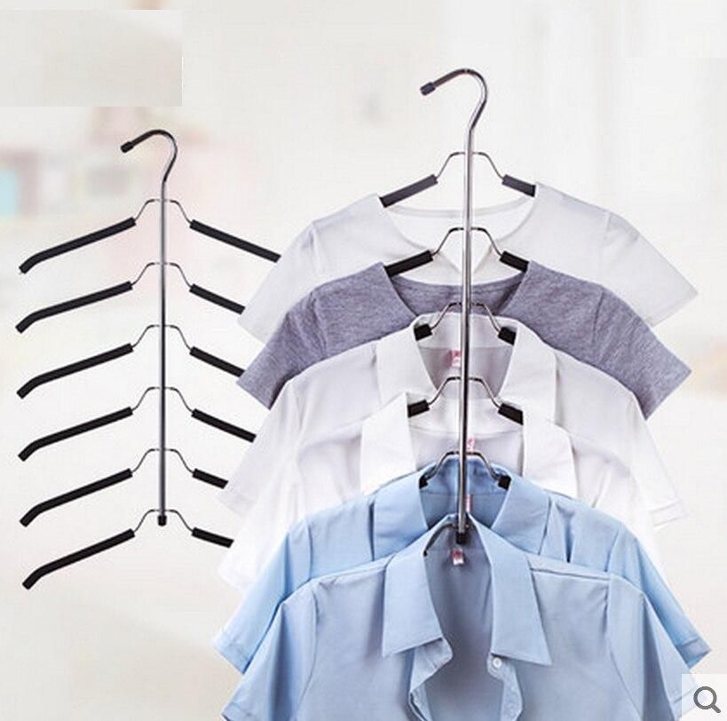 Πολυτελές ράφι ρούχων 3 τεμαχίων / παρτίδας με κρεμάστρα ρούχων και 6 κρεμάστρες ρούχων