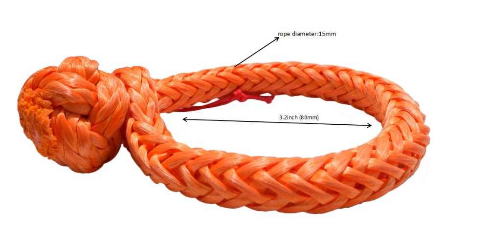 Image 2 - Orange 10mm*80mm Soft Shackles ,ATV Winch Shackle,Synthetic Rope Shackle,Sailing Shackle-in Towing Ropes from Automobiles & Motorcycles