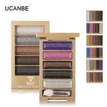 Ucanbe 5 Color Glitter Eyeshadow Makeup Eye Shadow Palette,Super Flash Diamond Eyeshadow High Quality With Brush